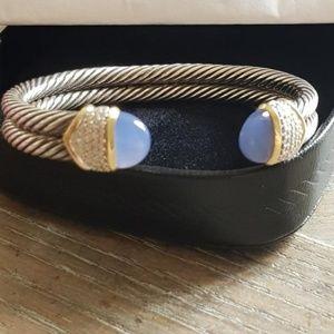 David Yurman Capri Chalcedony Diamond Bracelet
